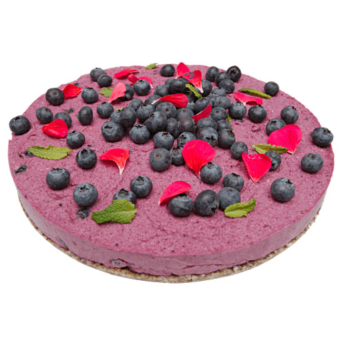 Raw Blueberry & Lemon Mousse Cake
