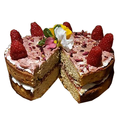 Coco-Almond Sponge Cake with Fresh Berry Chia Jam